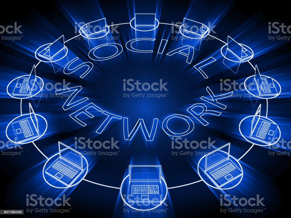 Social media network communication connection stock photo