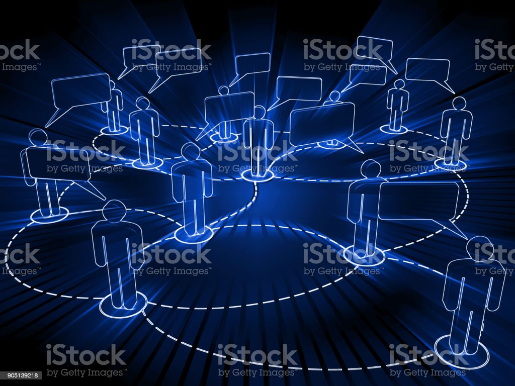 Social media network communication connection