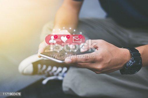 istock Social media network concept 1171902476