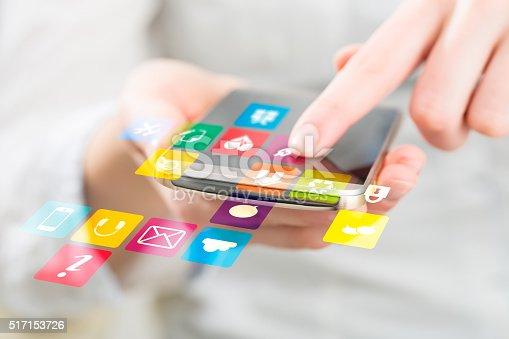 istock Social media network concept. 517153726
