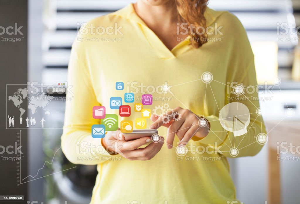 Social-media Netzwerk-Konzept – Foto