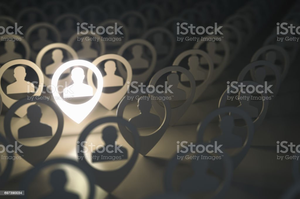 Social media network, searching for professional stuff, employment concept. stock photo