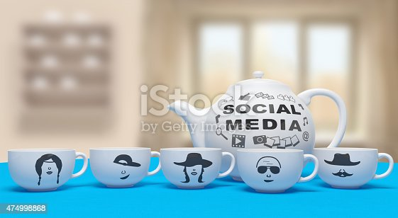 istock Social media networking concept 474998868