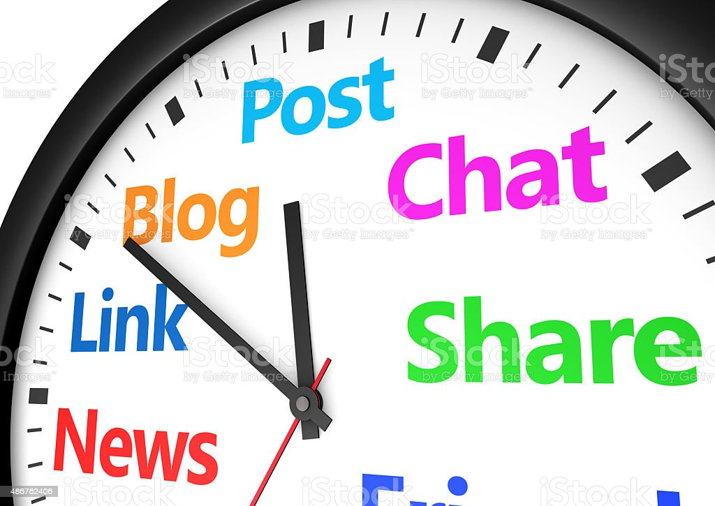 Social Media Networking Time Management stock photo