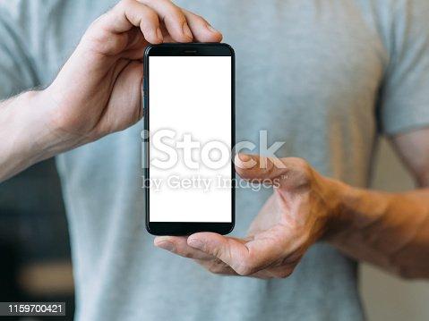 istock social media networking white mockup screen 1159700421