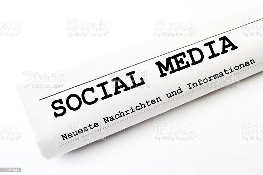 Social Media newspaper stock photo