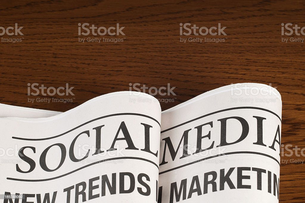 social media newspapers royalty-free stock photo