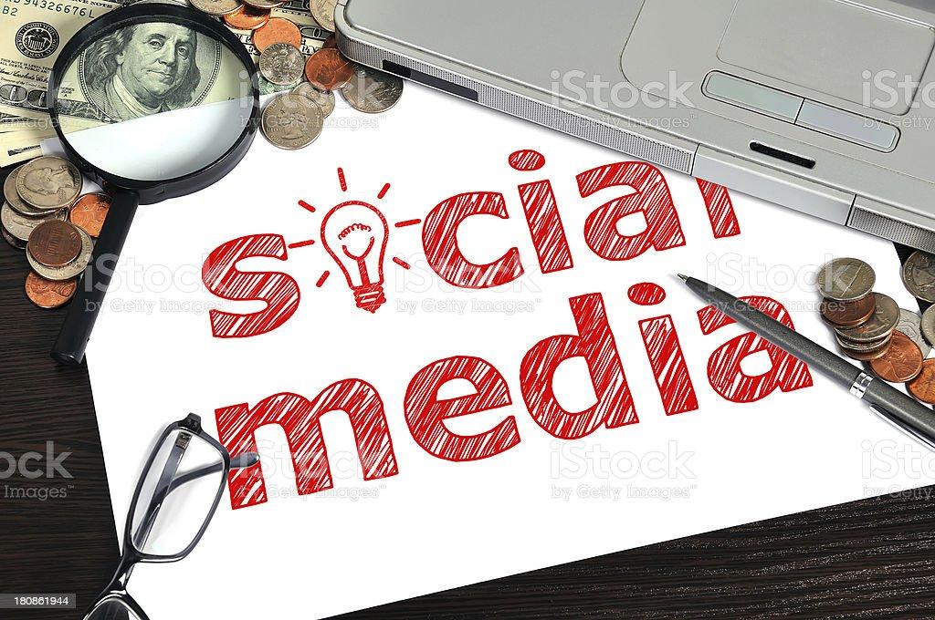 social media - Royalty-free Analyzing Stock Photo