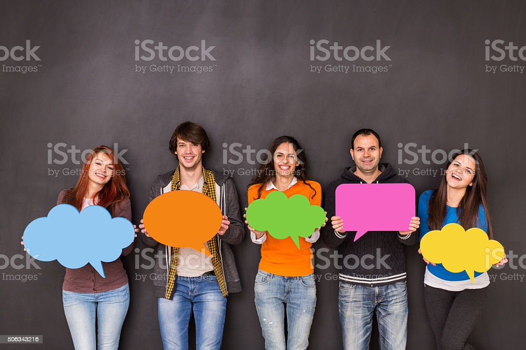 Medios sociales - foto de stock