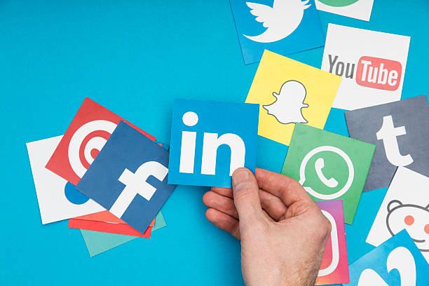 social media - linkedin bildbanksfoton och bilder