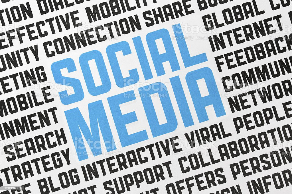 Social Media Poster  Advertisement Stock Photo