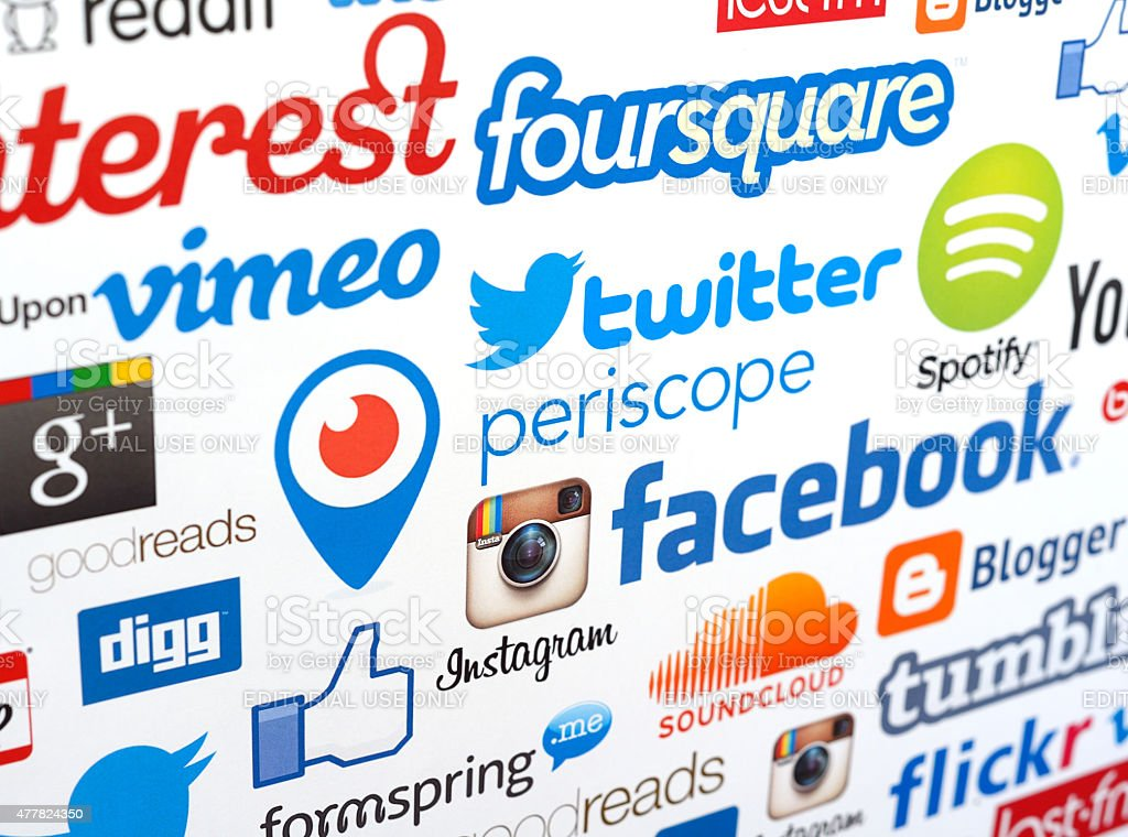 Social media services stock photo