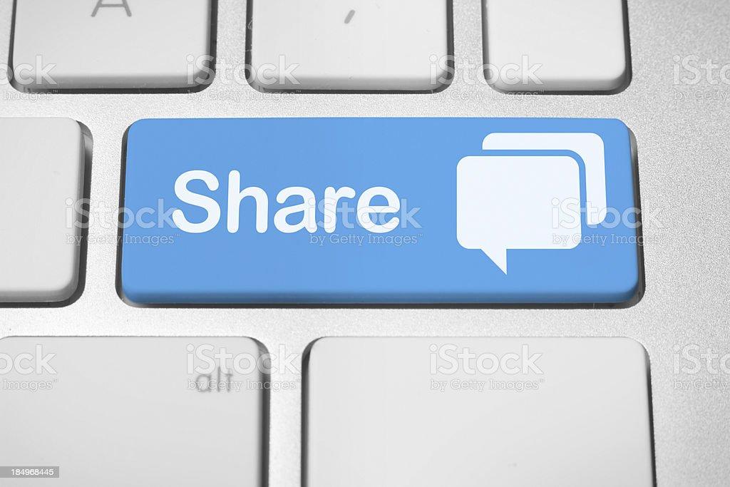 Social media sharing royalty-free stock photo