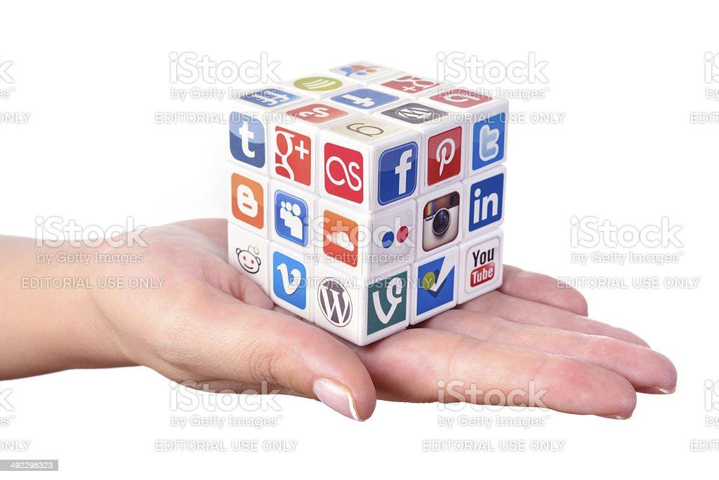 Social media solutions royalty-free stock photo