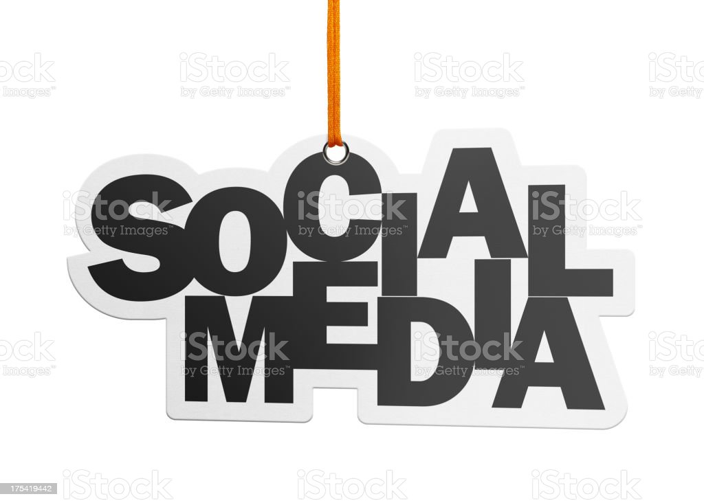 Social Media, Speech Bubble (Clipping Path) royalty-free stock photo