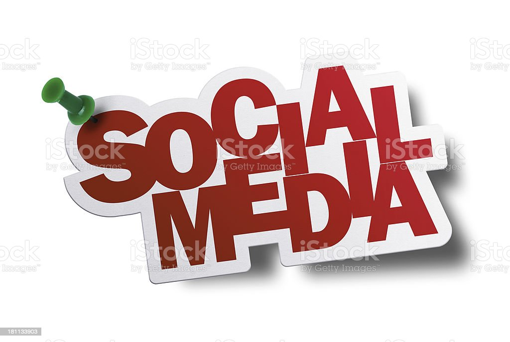 Social Media, Speech Bubble royalty-free stock photo