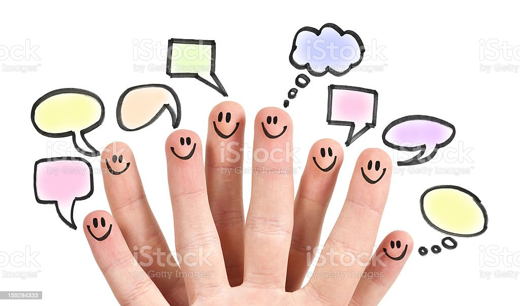 Social Media Speech Bubbles stock photo