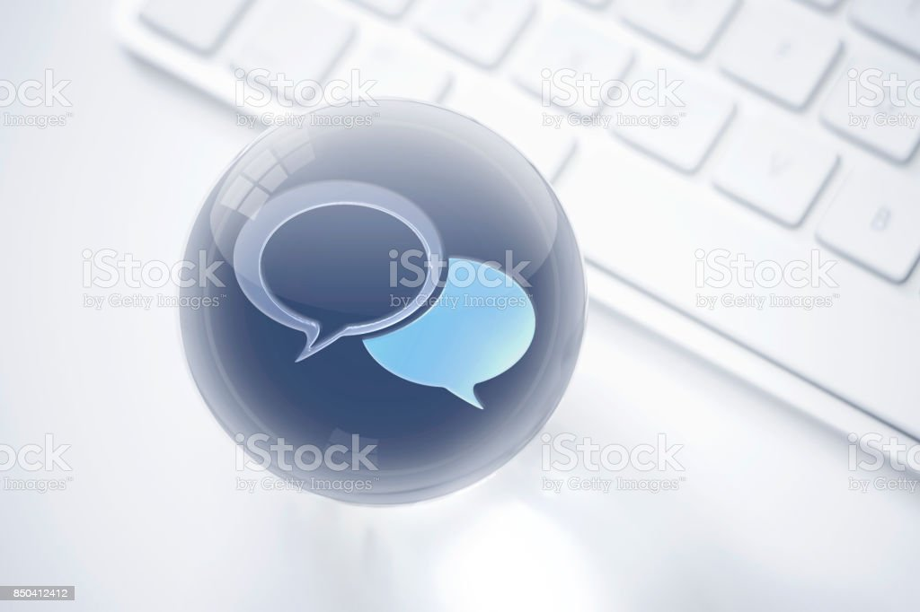 Social media sphere consept stock photo