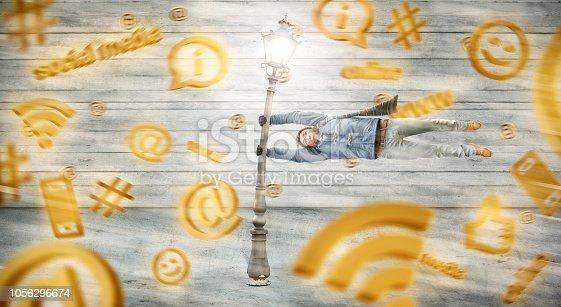 istock Social media storm 1056296674