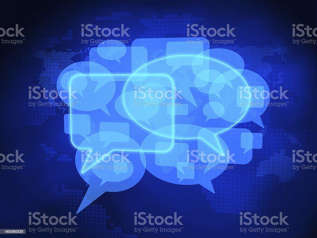 Social Media Symbol, Speech Bubbles stock photo