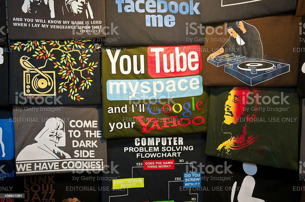 Social media t-shirt royalty-free stock photo