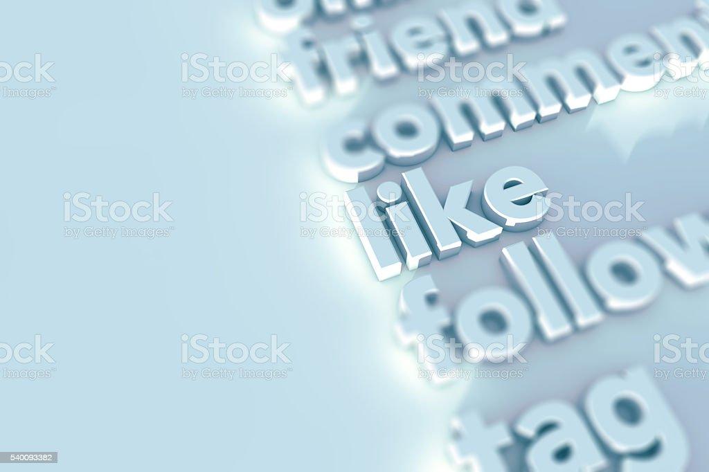 Social media words background stock photo