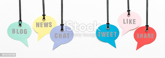 881845218istockphoto Social Media Words on Speech Bubbles 604028288