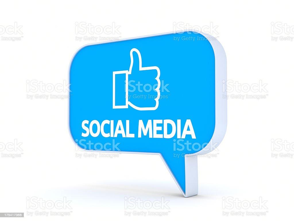 Social Media XL+ royalty-free stock photo