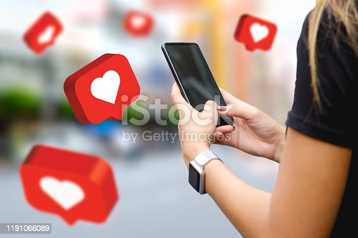 1125605742istockphoto Social media,social network concept with smart phone , 3d illustration 1191066089