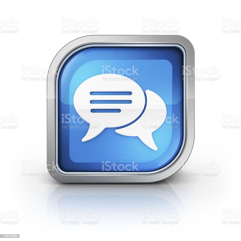 social message or comment icon stock photo