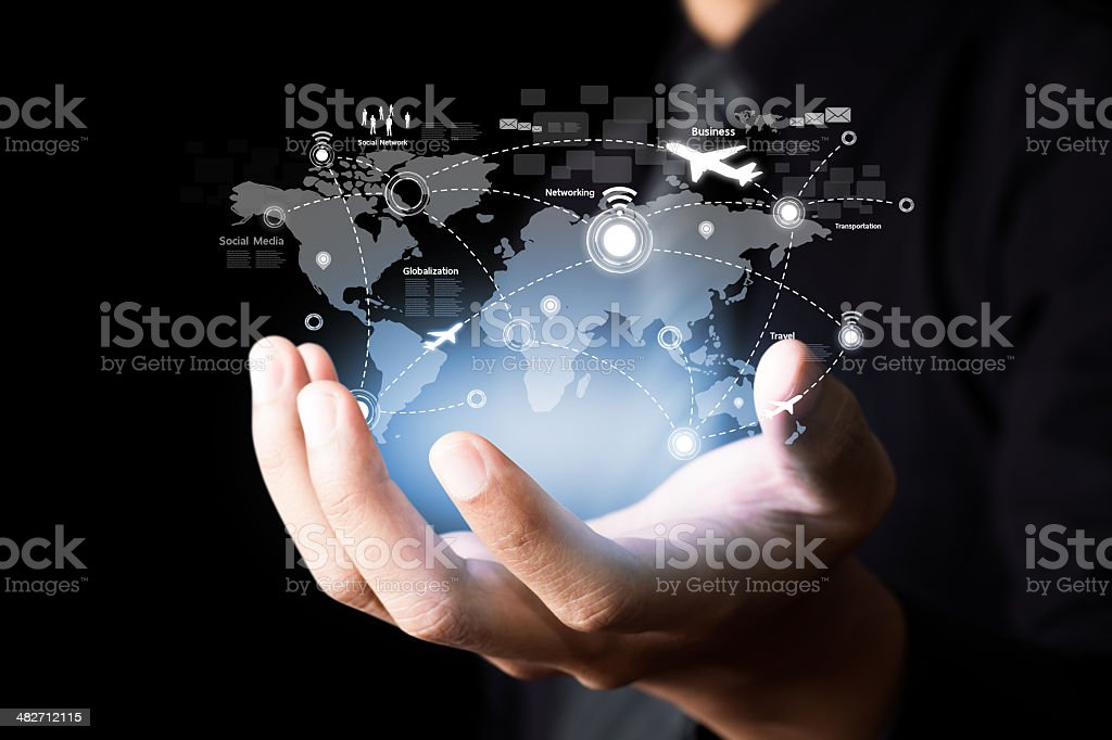 Social network and Modern communication technology royalty-free stock photo
