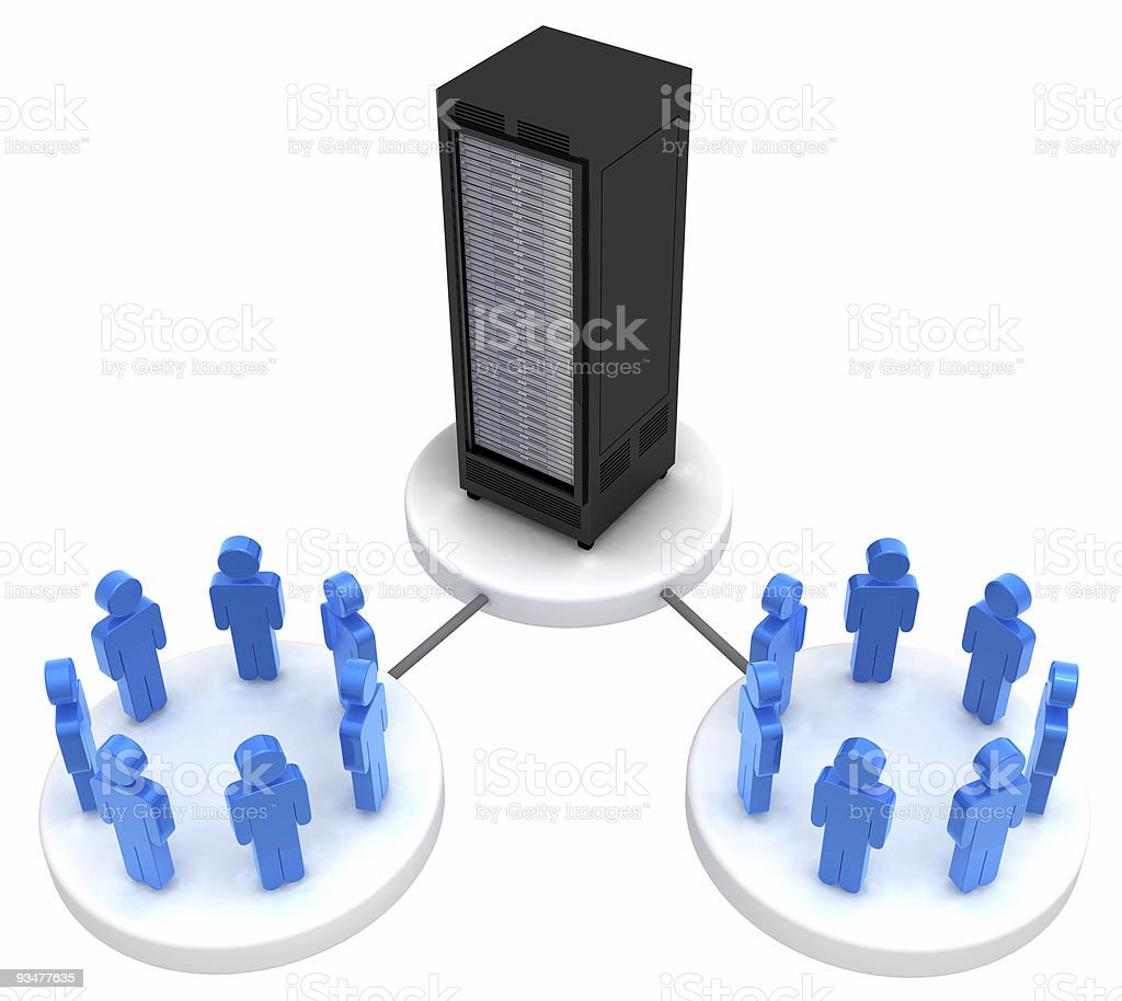 Social Network and Server royalty-free stock photo
