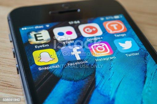 istock Social Network Applications 538591940