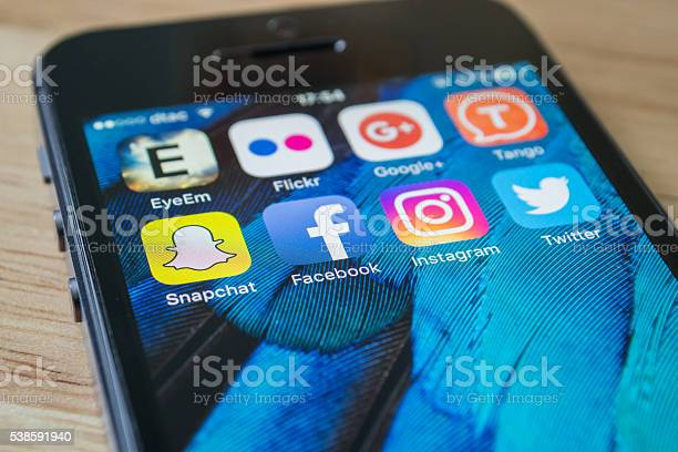 Social Network Applications Stock Photo - Download Image Now