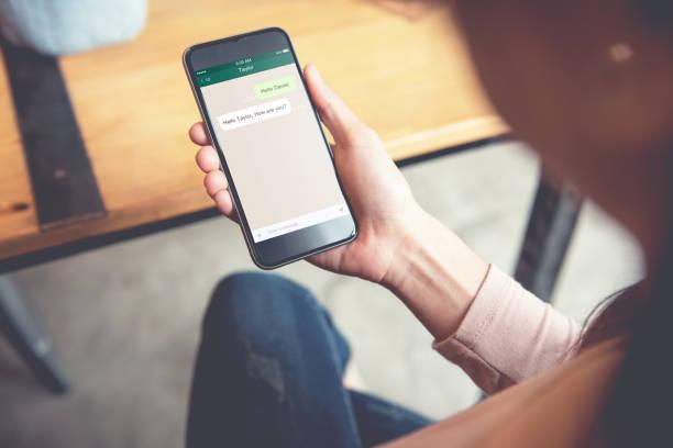 social network, chating and messaging concept. - wyślij zdjęcia i obrazy z banku zdjęć