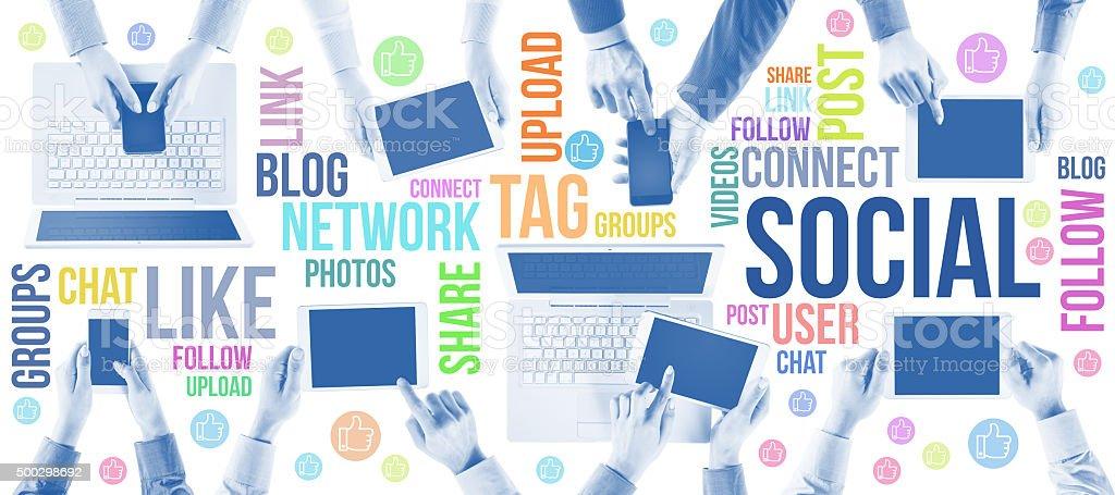 Social network community stock photo