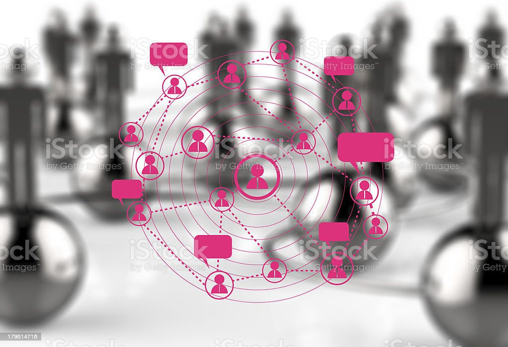 social network concept royalty-free stock photo