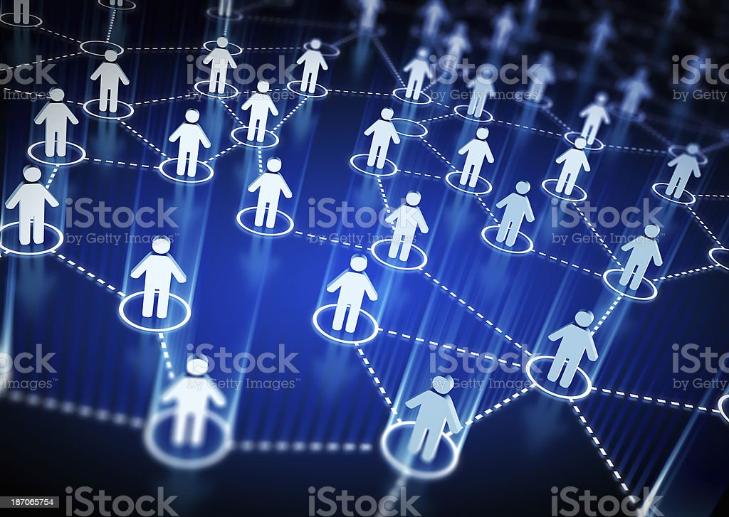 Social Network concept stock photo