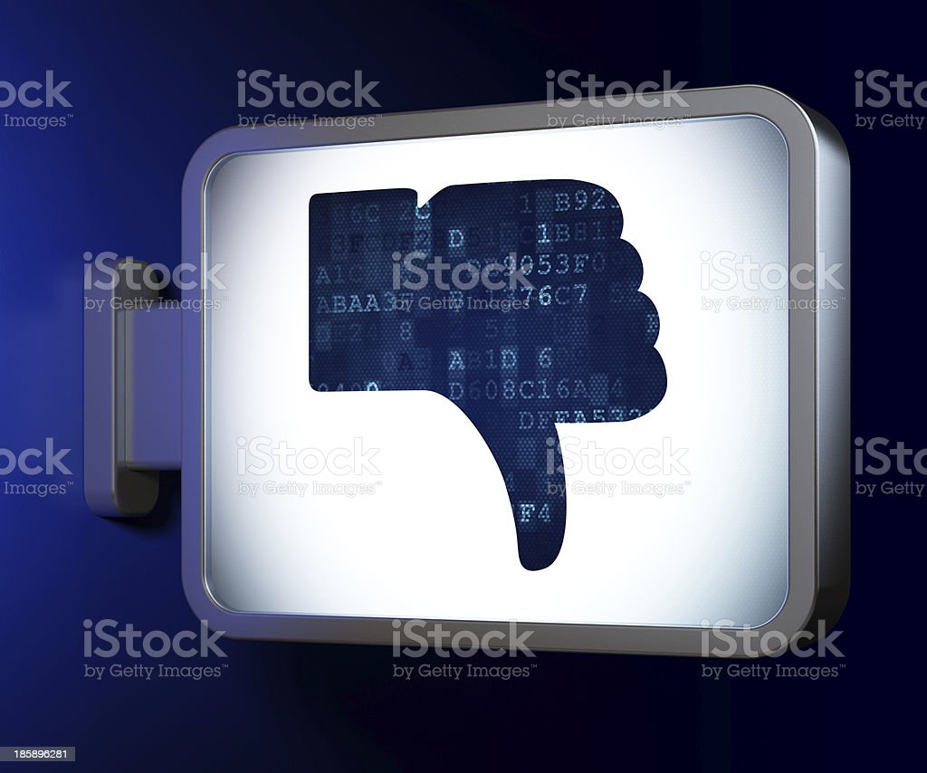 Social network concept: Unlike on billboard background royalty-free stock photo