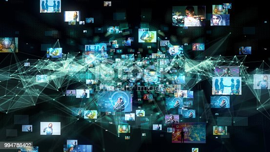 913589004istockphoto Social network concept. Video streaming service. 994786402