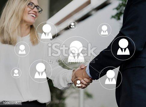 istock Social Network Connection Avatar Icon Vector 1056594822