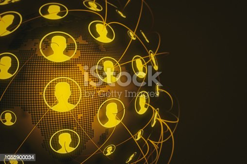 istock Social Network Connection Backgrounds 1055900034