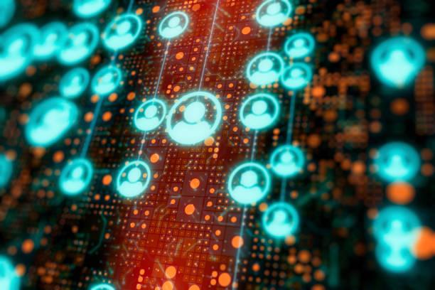 Hintergrund der sozialen Netzwerkverbindung – Foto