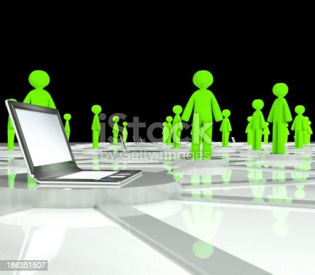 1190039622istockphoto Social network connection concept, abstract 3d illustration 186351507