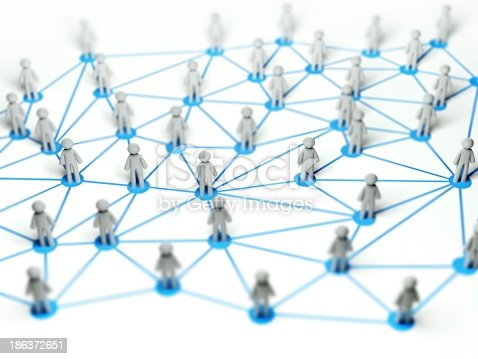 1190039622istockphoto Social network connection concept, abstract 3d illustration 186372651