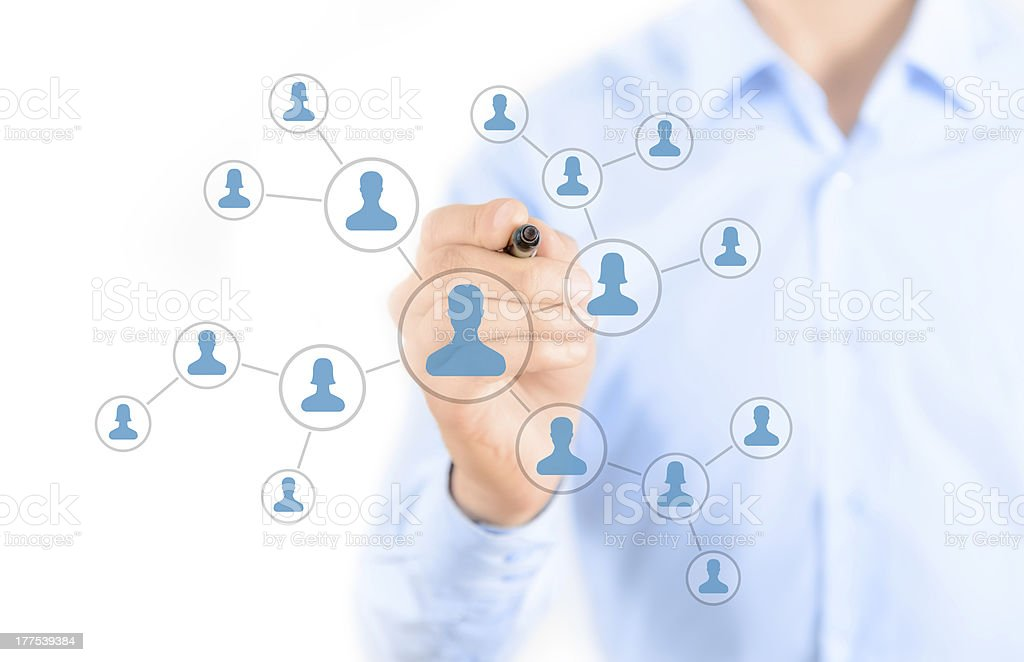 A social network connection concept royalty-free stock photo