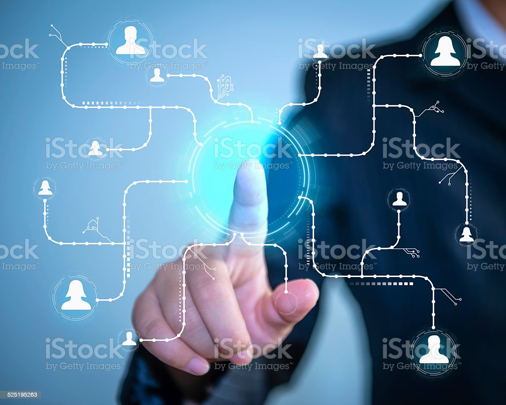 Social Network Connection concept stock photo