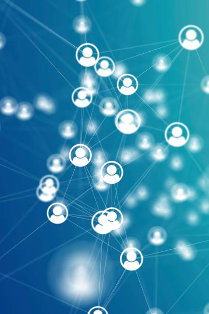 Social Network Connections Icons auf Hintergründen – Foto