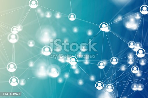istock Social Network Connections icons on backgrounds 1141403577
