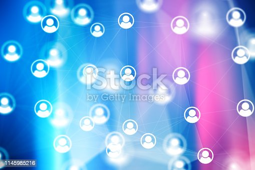 istock Social Network Connections icons on backgrounds 1145985216